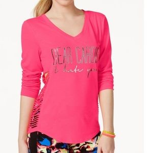 Material Girl Active Hot Pink Dear Cardio Tee